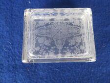 Beautiful Rosepoint #747 Covered Cigarette Box and 2 Square Ashtrays