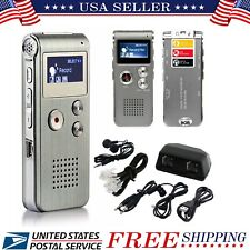 Voice Activated 8GB Mini Spy Digital Sound Audio Recorder Dictaphone MP3 Player