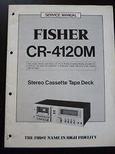 Orginal Service Manual Fisher CR-4120M