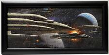 Star Wars ROTJ ADMIRAL ACKBAR'S ARMADA FRAMED CONCEPT PRINT McQuarrie 1983 Jedi