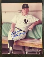 JOHNNY MIZE YANKEES AUTOGRAPHED SIGNED AUTO BASEBALL PHOTO 8x10