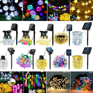 Solar Powered String 20 - 300 LED Fairy Lights Outdoor Garden Party Decorations