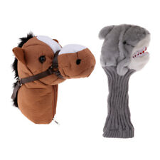 2Pcs Golf Headcover Golf Club Head Cover for Golf Wood Driver Animal Style