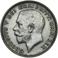 1924 SIXPENCE - GEORGE V BRITISH SILVER COIN - NICE