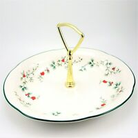 "Pfaltzgraff Winterberry Oval Handled Serving Dish 8.75"" Bonbon Candy Bowl USA"