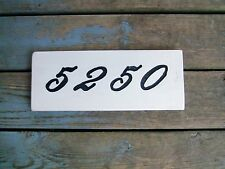 Custom wood house number plaque/sign handmade