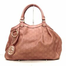 Auth GUCCI Guccissima 211944 Pink Leather Tote Bag