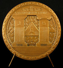 Médaille Grand Orient de France Franc Maçonnerie Jacques Zamponi Soleil Levant
