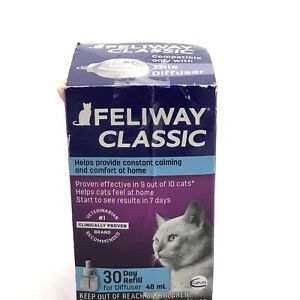 Feliway Classic Diffuser 30 Day Refills 48 ml Cat constant calming Exp 3/2024+
