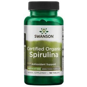 Spirulina 500mg Organic 180 Tablets Swanson