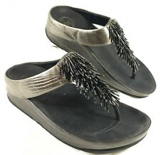 GUC Women's FitFlop Flip Flop Sandals Pewter Gray Cha Cha Sz 6