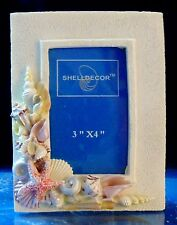 "3"" X 4"" PHOTO PICTURE FRAME SEA SHELL, BEACH DECORE TROPICAL"