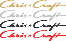"Chris Craft Boat Decals, Pair Vinyl Decals 9"" Chris Craft Window Stickers"