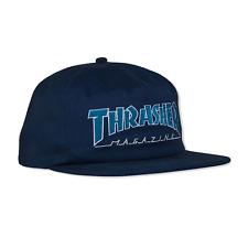 Thrasher Skateboard Hat Outline Snapback Navy/Grey