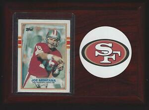 1989 Topps Football #12 Joe Montana San Francisco 49ers Football Plaque