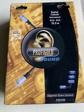 Profigold Genuine Digital Audio Coaxial (RCA-RCA) Cable 10m - Boxed