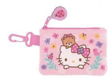 Sanrio Hello Kitty Children's Coin Purse w/ Card Case Flower Lady Bug Key Chain