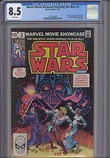 Marvel Movie Showcase #2 CGC 8.5  1982 Star Wars #4-6 Reprinted. Nice NEW Frame