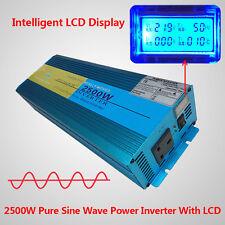 2500W / 5000W pure sine wave power inverter DC 12v to AC 230v 240v car converter
