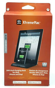 New 10w Dual Charging Dock by XtremeMac Incharge Duo for Apple iPod iPhone iPad