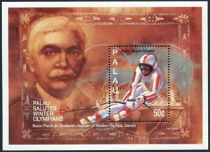Palau 327,328-333 sheets,MNH.Olympic Committee-100.Pierre de Coubertin,Medalists