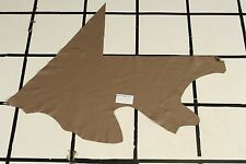 "Smooth ""Grullo"" Taupe-Brown Scrap Leather Hide Approx. 4.5 sqft. Q16Z10-7"