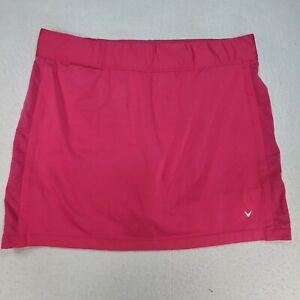 Callaway Golf Women's Skort Athletic Skirt Shorts Pink Pockets Size XL