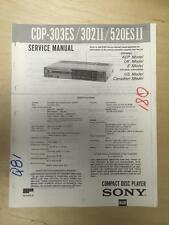 Sony Service Manual for the CDP 303ES 302II 520ESII CD Player    mp
