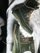 RARE Vintage Ted Williams Sears Leather Combat Boots Mens Size 8.5 D Never Worn