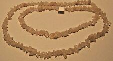 Necklace Genuine Quartz Crystal Gemstone Chunk Beads Long Length Strand NWT L337