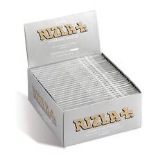 RIZLA SILVER KING SIZE SLIM ULTRA THIN ORIGINAL CIGARETTE SMOKING ROLLING PAPERS