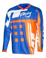 NEW MX Gear-JT RACING USA-Flex-ExBox Jersey, Blue/Fluro Orange