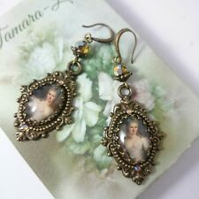 STUNNING UNIQUE MARIE ANTOINETTE COCKTAIL VICTORIAN INSPIRED EARRINGS