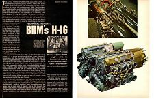 1966 BRM H-16 GRAND PRIX RACING ENGINE  ~  ORIGINAL 4-PAGE ARTICLE