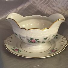 Princess-Empcraft China Sweet Briar Gravy Boat W/Attached Underplate, EXCELLENT!
