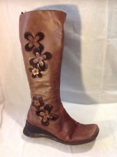Caravelle Brown Knee High Leather Boots Size 4