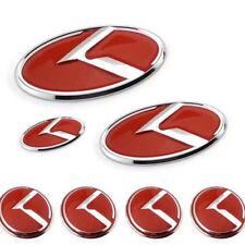 7pcs/Set car K Logo Sticker Red Steering Wheel Emblem 60mm for KIA Center Cap