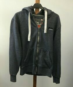 Superdry, Orange Label, Mens Blue Hoodie, Size Large