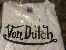 Junior's Short Sleeve Tee Von Dutch White size EXTRA LARGE sealed plastic bag XL