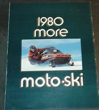 1980 MOTO-SKI SNOWMOBILE SALES BROCHURE NICE  6 PAGES  (187)