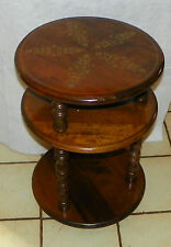 Maple Round 3 Tier End Table / Side Table  (T519)