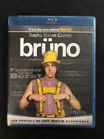 Brüno (Blu-ray Disc, 2009) Sacha Baron Cohen Brand New