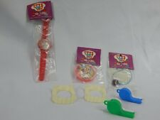 Vintage Mid Century Fair Carnival Prize Toys Lot Dime Store Vampire Teeth Charms