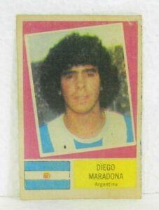 DIEGO MARADONA ROOKIE ORIGINAL ALBUM 1978 FOOTBALL SOCCER CARD NEVER STUCK