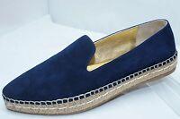 New Prada Women's Shoes Espadrilles Blue Suede Flats Size 39.5 Calzature Donna