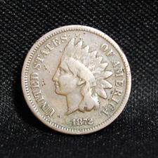 1872 SEMI KEY INDIAN HEAD PENNY VG/FINE DETAILS