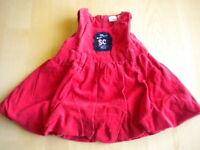 abito vestito completo gonna bimba bambina Sugar club rosso taglia 0/3 mesi