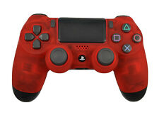 Custom Soft Touch Clear Red Sony Dualshock Playstation PS4 Wireless Controller