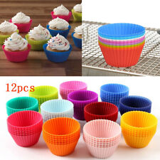 12x Mini Silicone Cup Cake Pan Molds Muffin Cupcake Form to Bake Latest Kitchen