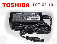 Lot of 10 Original Genuine OEM Toshiba 19V 3.42A 65W AC Adapter Charger & Code